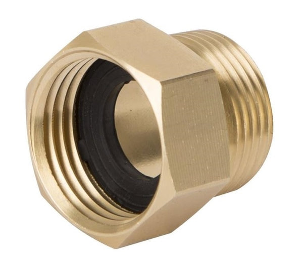 "Landscapers GHADTRS-7 Brass Double Garden Hose Connector, 3/4"" MNPT x 3/4"" FNH"