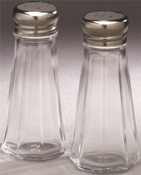 Arrow Plastic 00828 Clear Classics Salt & Pepper Shakers, 3 Oz