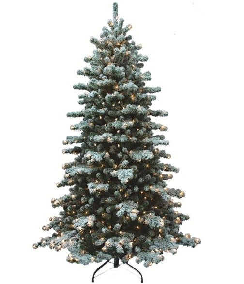 Holiday Basix 8517-H51230-01 Christmas Tree, Snow Bound Holiday, 7.5'
