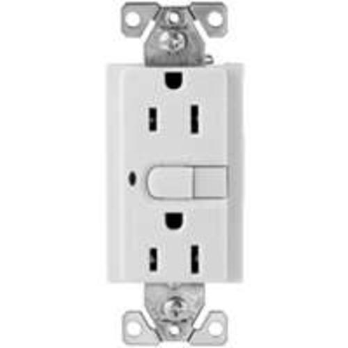 "Cooper Wiring 9566TRWS ""Aspire"" Ground Fault Circuit Interrupters - White Satin"