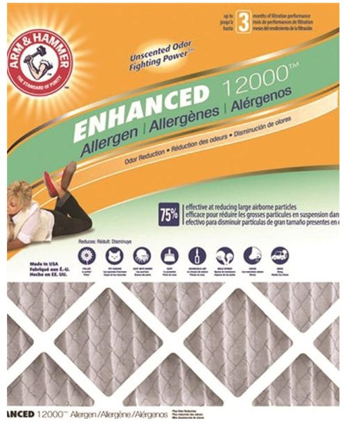 "Arm & Hammer AF-AH22424CS4 Allergen Electrostatic Air Filter, 24"" x 24"" x 1"""