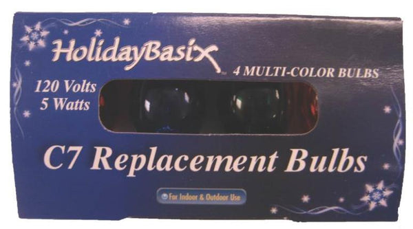 HolidayBasix U00Z302B C7 Multi-Color Replacement Bulb, 120 Volt