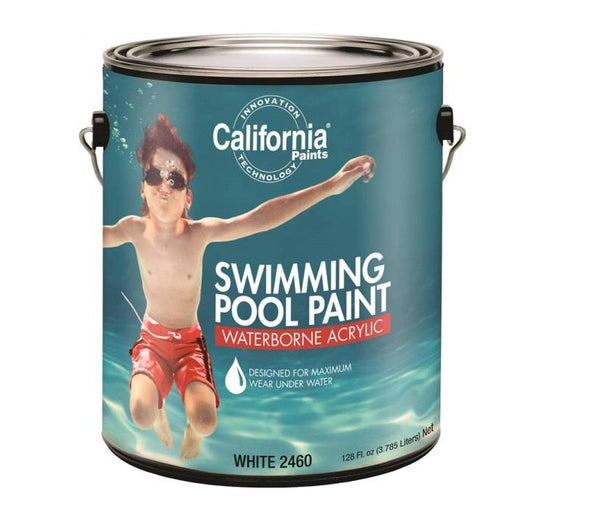 California Paints F24000-1 FixAll Waterborne Acrylic Swimming Pool Paint, 1 Gallon