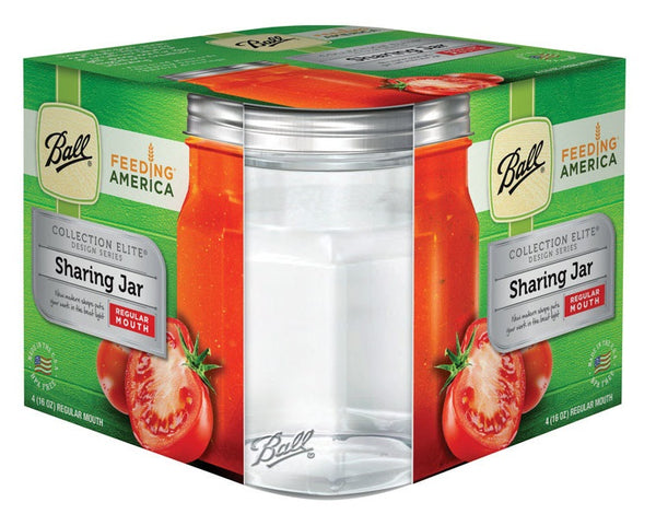 Ball 1440061185 Collection Elite Regular Mouth Sharing Canning Jar, Glass