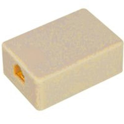 "Zenith TM1001SMSMA Telephone Wall Jack,  2""x1.25""x0.75"", Almond"