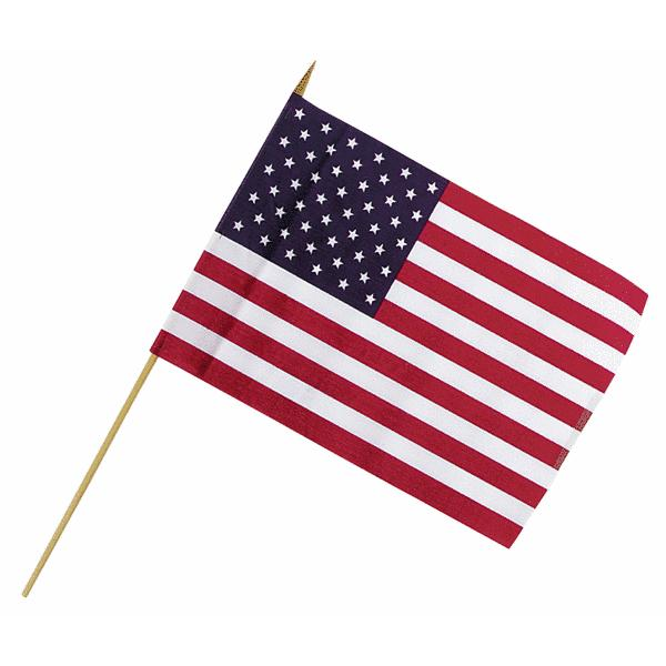 "Valley Forge USE4D Stick Flags With Cup Display, 4"" x 6"""