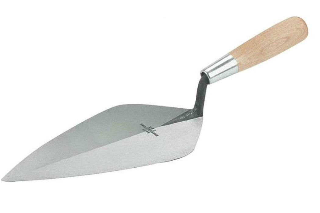 "Marshalltown 34 11 Wide London Brick Trowel, 11"", Wooden Handle"