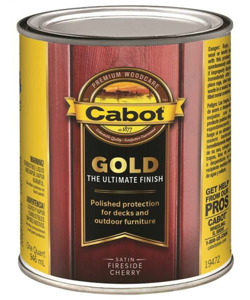 Cabot 19472 Gold Low VOC Exterior Stain, Cherry, 1 Quart