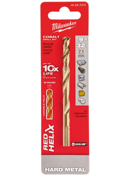 Milwaukee 48-89-2315 Red Helix 3-Flat Shank Drill Bit, 9/32""