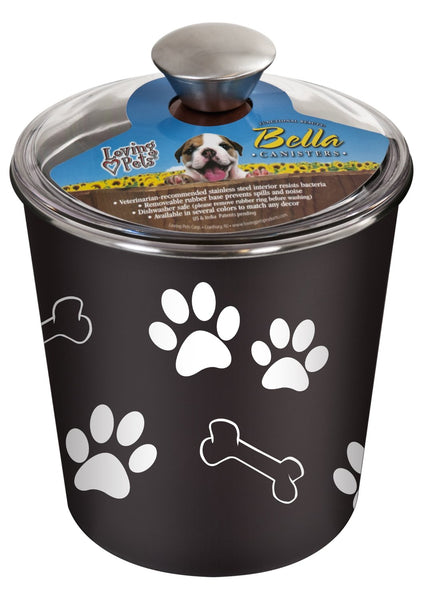 Loving Pets 7481 Bella Dog Bowl Canister, Espresso