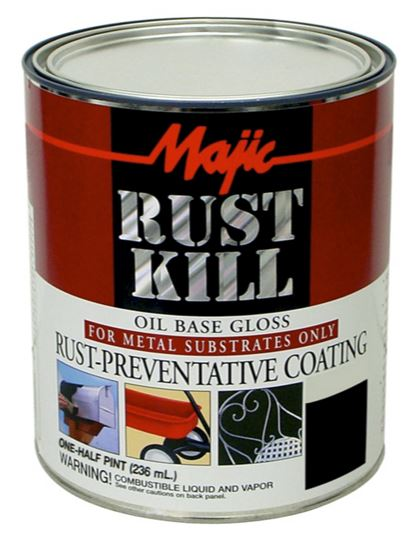 Majic 8-6004-4 Rust Kill Enamel, 1/2 Pint, Safety Orange