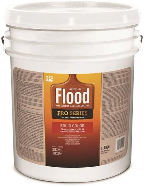 Flood FLD820-05 Pro Series Solid Color Stain, 5 Gallon, White/Pastel Base