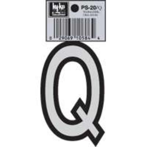 Hy-Ko PS-20/Q Vinyl lettering Reflective House Letter Q, Size 3-1/4""