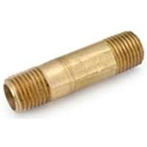 "Anderson Metals 736113-0448 Brass Pipe Nipple PLF 7113 1/4""x3"""