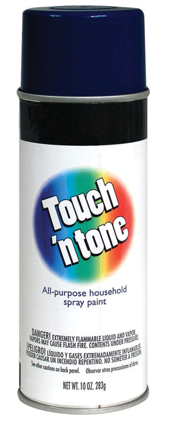 Rust-Oleum 55290830 Touch 'n Tone Gloss Spray Paint, Dark Blue, 10 Oz.