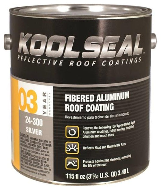 Kst Coatings KS0024300-16 Asphalt Based Aluminum Roof Coating, 1 Gallon