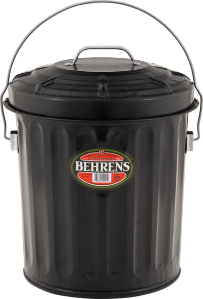 Behrens B907P Black Ash Pail, 7-1/2 Gallon