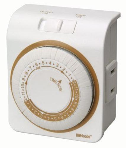 Woods 50000AC Indoor Mechanical Timer, 15 Amp, 125 Volt