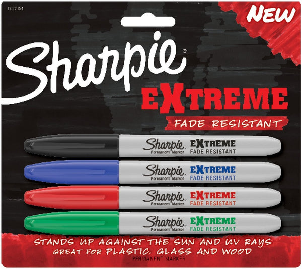 Sharpie 1927154 Extreme Permanent Markers, Assorted Colors