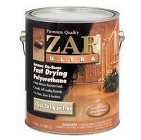 Zar 33913 Ultra Polyurethane, Oil-based, Clear Antique Flat, One Gallon