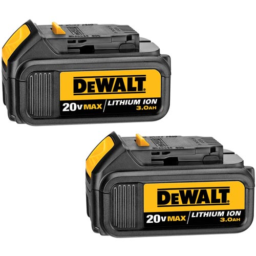 Dewalt DCB200-2 Battery Pack, 20Volt-Lithium Ion, Pk/2