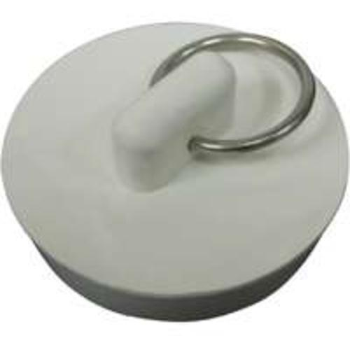 "Worldwide PMB-111 Sink Stopper, White, Rubber, 1-1/8"" To 1-1/4"""