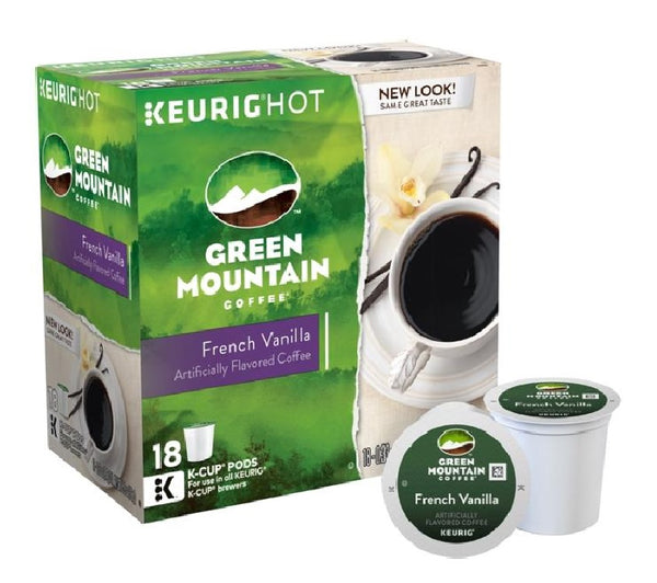 Green Mountain Coffee 5000081875 French Vanilla Coffee Keurig K-Cups, 18 Count