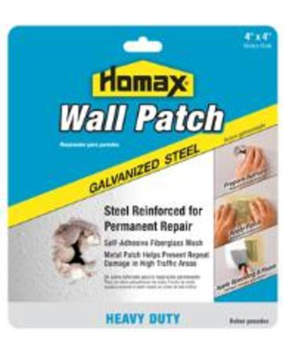 "The Homax Group 5504 Wall Patch 4"" X 4"", Galvanized Steel"