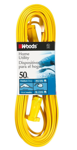 Coleman 0592 16/2 SPT-2 Flat Vinyl Extension Cord, Yellow, 50-Feet