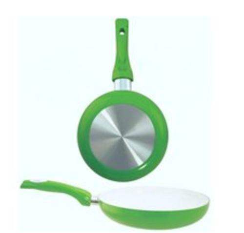 "Dura-Kleen 8128-GR Ceramic Coated Aluminum Fry Pan, 11"", Green"