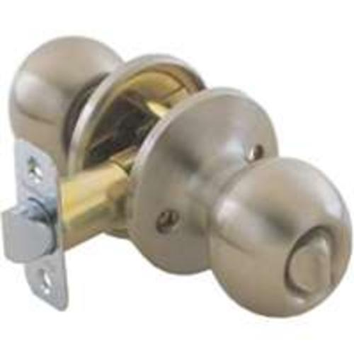 Toolbasix 6072SS-BK-3L Ball Privacy Knob Lockset Stainless Steel