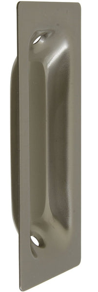 National Hardware N335-612 V141 Recessed Flush Pull, Satin Nickel