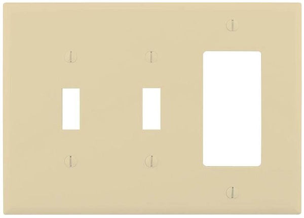 Cooper Wiring PJ226V 2 Toggle/1 Rocker Wall Plate, Ivory