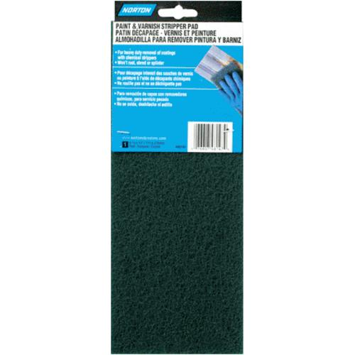 "Norton 48147 Fine Synthetic Finishing Pad 4-3/8""x11"", Green"