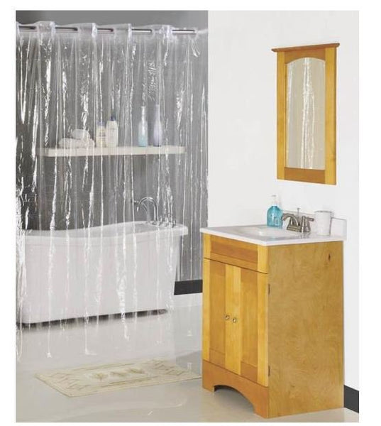 "Homebasix XG-02-CL Hookless Shower Curtain, Clear, 70"" X 72"""