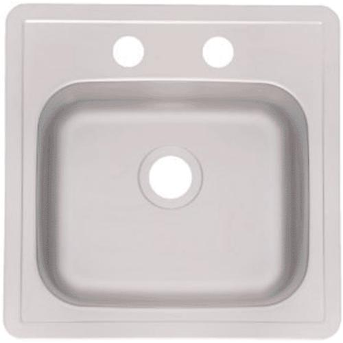 "Franke FBS602NB Stainless Steel Bar Sink, 15"" x 15"" x 6"""