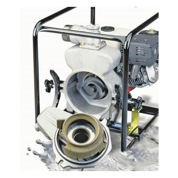 Tsurumi EPT3-80HA Honda Gas Engine Trash Pump, 8 Hp