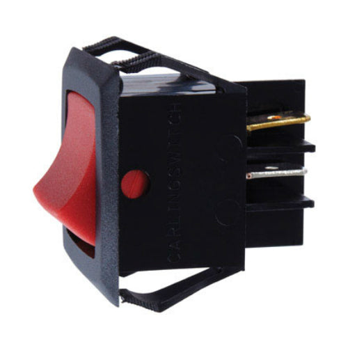 Jandorf 61125 DPST Illuminated Rocker Switch, 15 Amp, 125 Volt