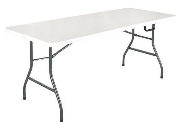 Homebasix DL-C2403L Banquet Table With Folding Leg, 8'