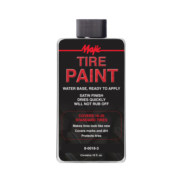 Majic 8-0018-3 Ready To Apply Tire Paint, 16 Oz