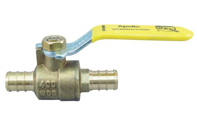 "Apollo Valves APXV3434  Brass PEX Ball Valve Crimp Fitting, 3/4"" Dia."