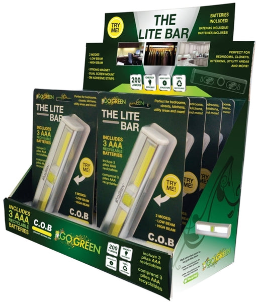 Go Green GG-113-LBAR The Lite Bar LED Flashlights, 200 Lumens