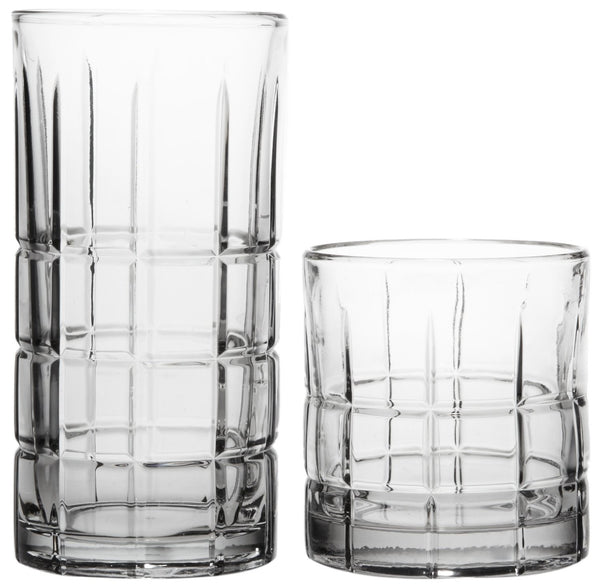 Anchor Hocking 69888L13 Manchester Clear Glassware Set, 16-Piece