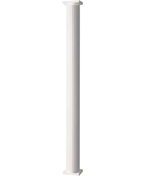 "Afco Industries 86084 Round Fluted Aluminum Column, 8""X96"", White"