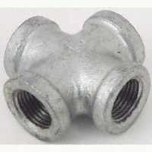 Worldwide Sourcing PPG180-25 Malleable Cross Pipe Fittings, 1""