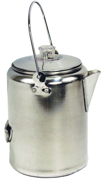 Texsport 13180 9 Cup Percolator Coffee Maker, Aluminum