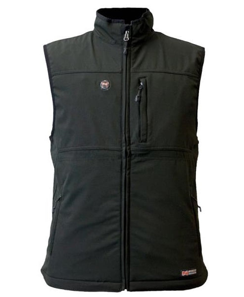 Mobile Warming MWJ13M01-XXL-BLK Vinson Men Heated Vest, Black, 2XL