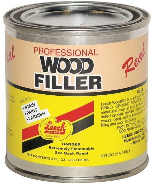 Leech LWF-68 Superior Grade Real Wood Filler, 8 Oz