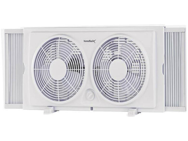 PowerZone F-5280A Twin Window Fan with 2-Speed, 7""