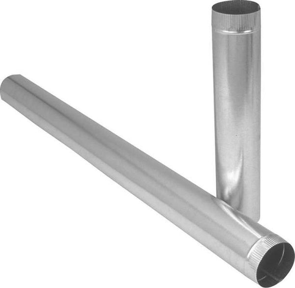 "Imperial GV0360-A Galvanized Duct Pipe, 4"" x 30"""